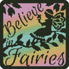 Fairy Silhouette Square 4 - Cross Stitch Chart