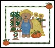 Farm Teddy Border 1 - Cross Stitch Chart