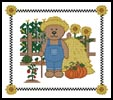 Farm Teddy Border 2 - Cross Stitch Chart