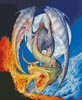 Fire Dragon - Cross Stitch Chart