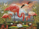 Flamingos Painting - Cross Stitch Chart