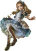 Floating Alice (No Background) - Cross Stitch Chart