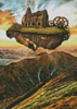 Floating Steampunk Mountain (Crop) - Cross Stitch Chart