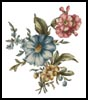 Floral Bouquet 1 - Cross Stitch Chart