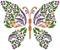 Floral Butterfly - Cross Stitch Chart