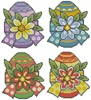 Floral Easter Eggs - Cross Stitch Chart