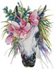 Floral Unicorn - Cross Stitch Chart