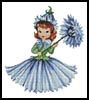 Flower Girl 3 - Cross Stitch Chart