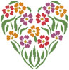 Flower Heart 2 - Cross Stitch Chart