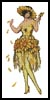 Flower Lady 1 - Cross Stitch Chart