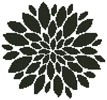 Flower Petals Silhouette - (Facebook Group) Cross Stitch Chart
