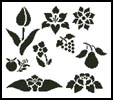 Flowers and Fruits Stencils - Cross Stitch Chart
