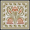 Flowers & Snails Pattern - Cross Stitch Chart