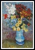 Flowers in a Blue Vase - Cross Stitch Chart