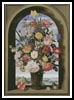 Flowers in a window niche - Cross Stitch Chart