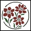 Flower Stencil - Cross Stitch Chart