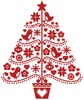 Folk Art Christmas Tree - Cross Stitch Chart