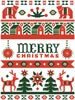 Folk Art Merry Christmas - Cross Stitch Chart