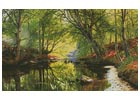 Forest Stream Painting - Cross Stitch Chart