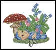 Forget Me Not Fairy Baby - Cross Stitch Chart