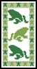 Frog Bookmark - Cross Stitch Chart