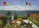 Garden at Saint-Adresse - Cross Stitch Chart