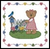Garden Teddy Border 2- Cross Stitch Chart