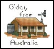 G'day Card - Cross Stitch Chart