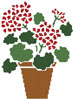 Geranium Pot - Cross Stitch Chart