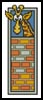 Giraffe Bookmark 2 - Cross Stitch Chart