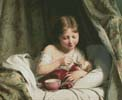 Girl Feeding her Doll - Cross Stitch Chart