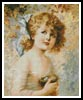 Girl Holding a Nest - Cross Stitch Chart