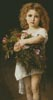 Girl Holding Flowers - Cross Stitch Chart