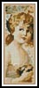 Girl Holding a Nest Bookmark - Cross Stitch Chart