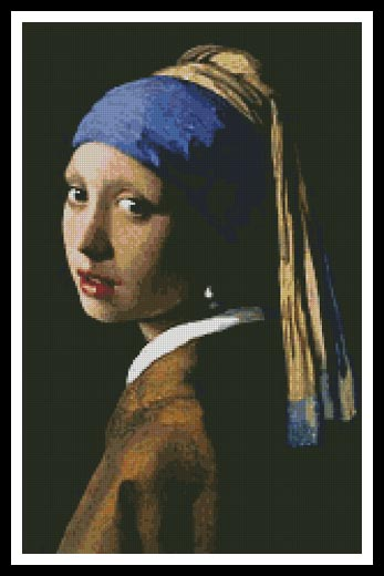 Girl with a Pearl Earring - Cross Stitch Chart