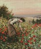Girl Picking Poppies - Cross Stitch Chart