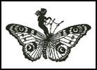Girl Riding Butterfly - Cross Stitch Chart