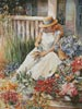 Girl with Flowers - Cross Stitch Chart