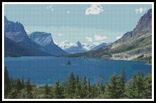 Glacier Park - Cross Stitch Chart