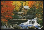 Glade Creek, Grist Mill - Cross Stitch Chart