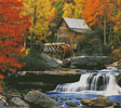 Glade Creek Grist Mill (Cushion) - Cross Stitch Chart