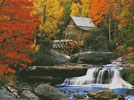 Glade Creek Grist Mill (Large) - Cross Stitch Chart