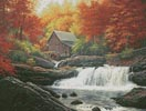 Glade Creek Grist Mill Painting - Cross Stitch Chart
