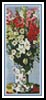 Bouquet of Gladiolas Bookmark - Cross Stitch Chart