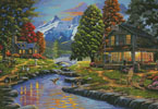 Going to the Sun View - Cross Stitch Chart