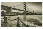 Golden Gate - Sepia (Large) - Cross Stitch Chart