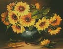 Golden Petals - Cross Stitch Chart