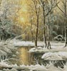 Golden Winter Lake (Crop) - Cross Stitch Chart