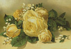Golden Yellow Roses - Cross Stitch Chart