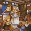 Goldilocks Painting - Cross Stitch Chart